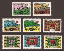 Mozambique 1975 SG650/657 vigilancia, unidad, trabajo conjunto Estampillada sin montar (WJ515)