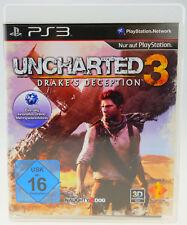 Uncharted 3 Drake's Deception dans neuf dans sa boîte-Sony Playstation 3 ps3 bien