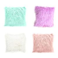 Long Plush Fluffy Shaggy Soft Pillow Throw Cover Sofa Cushion Case Pillowcase