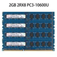 For Hynix 2GB 4GB 8GB 2Rx8 PC3-10600U DDR3-1333MHZ 240Pin DIMM Desktop Memory