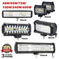 LED Work Light Bar Spot Flood Offroad Roof Lights Driving Lamp Truck Bar Car UK~