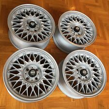 "BMW E30 Genuine BBS 7x15"" Style 5 alloy wheels rims EUROWEAVES RARE VW Rabbit"