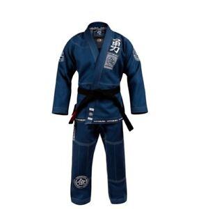 Hayabusa Goorudo3 Gold Weave Jiujitsu Uniform BJJ GI Brazilian Blue Genuine