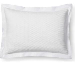 FIELDCREST Diamond Matelasse White 100% Cotton Standard Queen Pillow Sham NEW