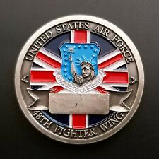 More details for usaf 48th fighter wing f-15 eagle raf lakenheath challenge coin