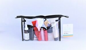 Transparent Clear Plastic Makeup Cosmetic Toiletry PVC Zipped Bag Travel Pouch