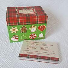 Hallmark Christmas Holiday Recipe Box with Recipe Index Cards & Dividers NIP