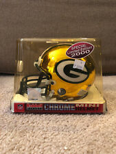 Green Bay Packers Riddell 2000 Special Limited Edition chrome mini helmet