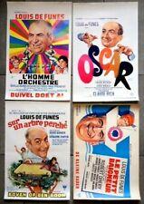 4 Superbes affiches de cinéma Louis de Funès années 1960-70 Etat TBE