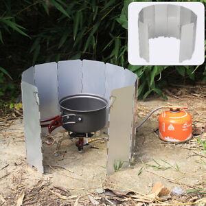Faltbar Windschutz fur  Campingkocher Gaskocher Aluminium Windschutz 10 Platte