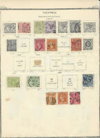 EARLY VICTORIA STAMP COLLETION ON ALBUM PAGE, AMAZING LOT