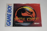 Mortal Kombat Nintendo Game Boy Video Game Manual Only