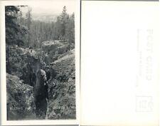 Maligne Canyon Jasper Park Alberta Canada Vintage Rppc Real Photo Postcard