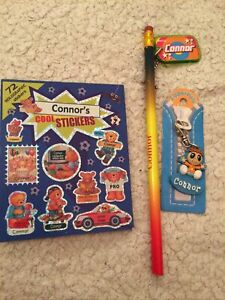 Connor Named Stickers Pencil And Key Rings