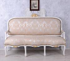 Französische Recamiere Barockes Sofa Salonsofa Weiss Sitzbank Barock