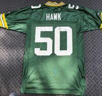 Green Bay Packers Reebok AJ Hawk #50 NFL Football Jersey Mens Size S / Small