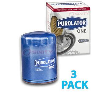 3 pc PurolatorONE PL22500 Engine Oil Filters for Oil Change Lubricant cp