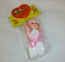 Nos Vtg Sweetheart Plastic Baby Doll by Red Box Sleep Eyes Hong Kong Maple Toys