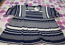 NEW WOMENS STRIPED SHORT SLEEVED  TOP SIZE M   H+M