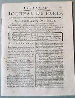 États Généraux 1789 Agen Goldoni Théâtre Rare Journal de Paris Révolution