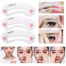 3x Augenbrauen Schablone-Eyeliner  Lidschatten Augenbraue Schablonen  Eye Liner