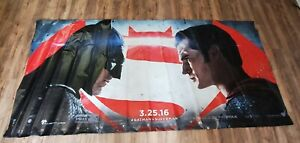 RARE 10 ft x 5 ft MOVIE THEATER Batman v Superman: Dawn of Justice Vinyl BANNER