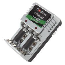 EU Plug Charger For AA/AAA/9V/Ni-MH/Ni-Cd Rechargeable Battery Batteries FT