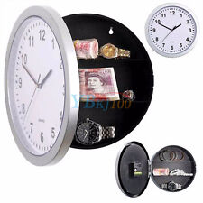 Home Secret Wall Clock Home Safe Valuables Money Box Stash Cash Jewellery Silver