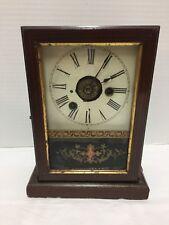 German Vintage Mantel Clock Schutzmarke Uhrenfabrik Teutonia