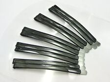 30 Black Metal Long Flat Top Bobby Hair Pin Clips Barrette 60mm