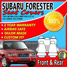 SUBARU FORESTER 01/2000-02/2008 GREY CUSTOM FIT SEAT COVERS GX, LIMITED, GT, X