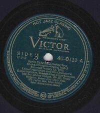 Victor H J-3 Disc 40-0111 LIONEL HAMPTON: Ring Dem Bells/Rhythm, Rhythm; Cond E+