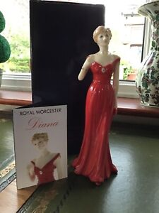 ROYAL WORCESTER FIGURINE 2007 TO CELEBRATE THE LIFE OF PRINCESS DIANA - BOXED.