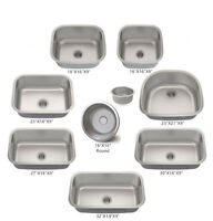Various Sizes Single Bowl Under Mount Kitchen Sink Stainless Steel