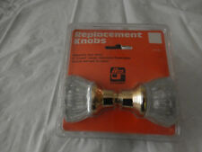 """{ Ilco Unican Fluted Crystal Glass 2"""" Round Replacement Door Handle Knobs Ag-30"""