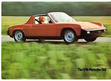 VW Porsche 914 1.8 & 2.0 1972-73 USA Market Foldout Sales Brochure