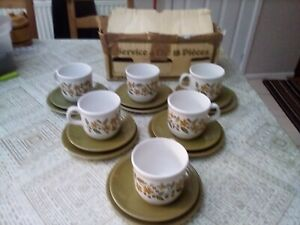 18 piece Tams Ware cup, saucer and place set.