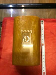Vintage Art Deco Yellow Bakelite Gold Lava Catalin Desktop Vase