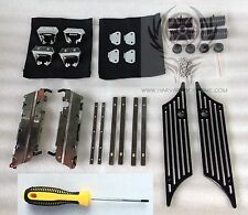 Saddlebag Hardware SET + Aluminum Latch Covers FOR HD Harley-Davidson Bags Lids