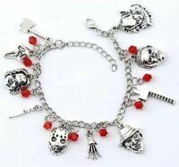 Horror Movie-Alloy Charm Bracelet Halloween Creepy Bracelet