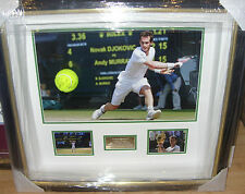 ANDY MURRAY WIMBLEDON CHAMPION 2013 Signed Montage AFTAL