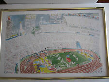 "MARC AHR SIGNED/NUMBERED 21/500 LITHOGRAPH - ATLANTA SUMMER OLYMPICS 17"" X 11"""