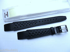 Hirsch Watch Strap, Black, Perforated Rally 14mm, Ladies Open-Ended,