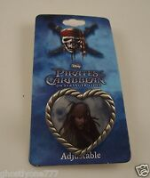 Disney Pirates of Carribbean Heart Captain Jack Sparow On stranger tides ring