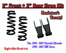"1999 - 2007 Chevrolet Silverado / GMC Sierra 1500 V6 2"" / 2"" Lowering Drop kit"