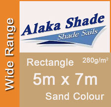 Extra Heavy Duty Shade Sail Sand Rectangle 5x7m, 5m x 7m, 5 by 7m, 5 x 7m 5mx7m
