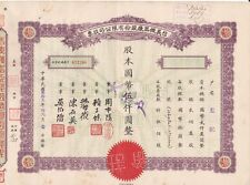 S1036, Sing Yih Machine Works Co, Stock Certificate 500 Shares, China 1943