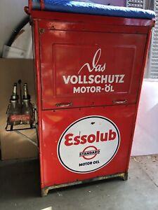 Original 1937 Standard Oil Essolube 3 Station Oil Not Gas Pump Porcelain Sign