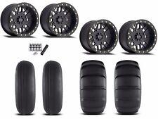"Method 406 Beadlock 14"" Wheels Rims Black 27"" EFX Sand Slinger Tires Maverick X3"