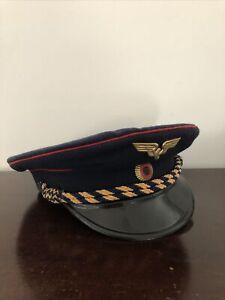 DDR Deutsche Reichsbahn Uniform Peaked Cap 55 German Railroad Visor Hat